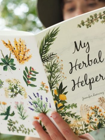 My herbal helpers is a watercolor illustration booklet of girls with flowes