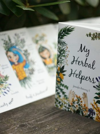 Limited edition art print package of girls with plants My herbal helpers