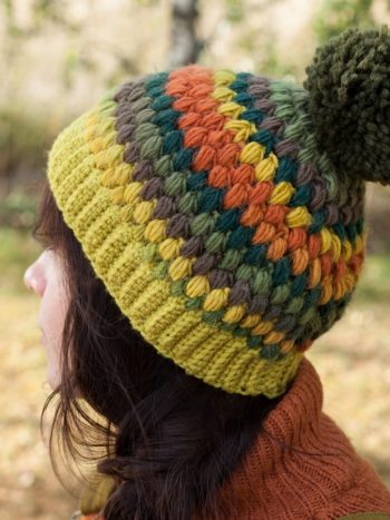 Stay warm with this crochet beanie