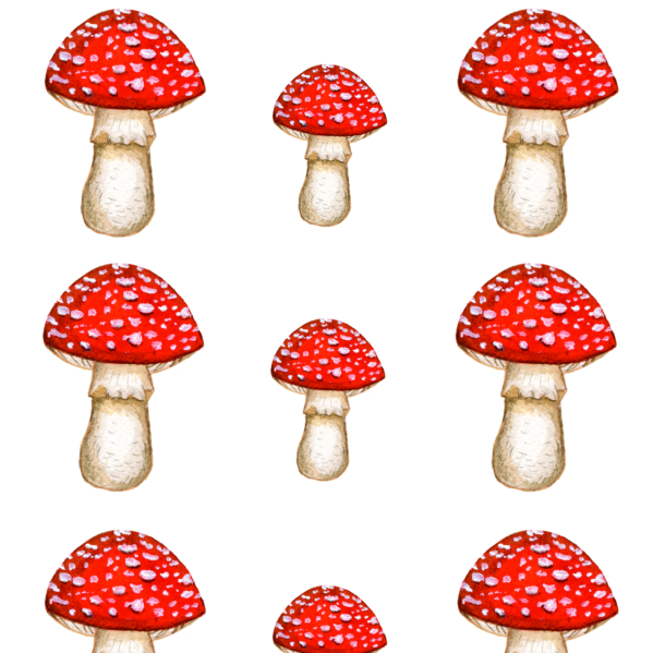 6 Big 3 Small Mushroom Stickers