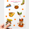 WarmSquirrel Autumn Sticker Pack Warmsquirrel