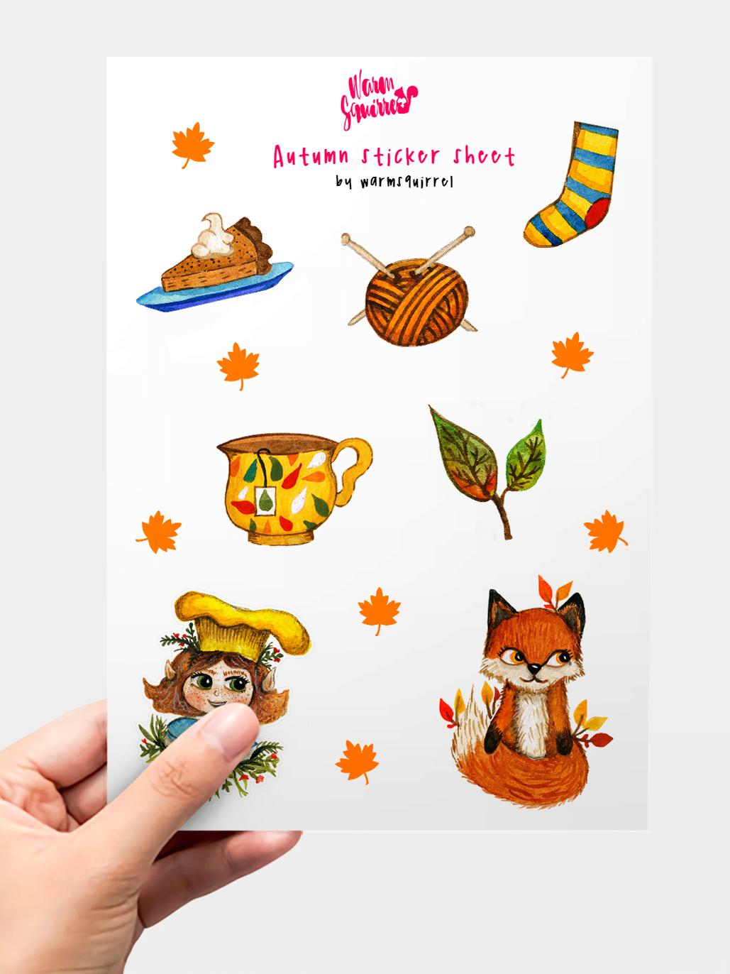 WarmSquirrel Autumn Sticker Pack Warmsquirrel