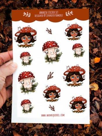 WarmSquirrel Amanita Muscaria Sticker Set By Warmsquirrel