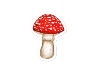 WarmSquirrel Autumn Stickers Amanita Muscaria Transparent Mockup Default Default X