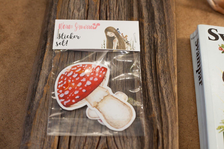 Sticker set of Amanita muscaria mushroom the set includes 6 stickers