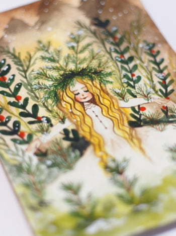 WarmSquirrel Snow Queen Watercolor Painting