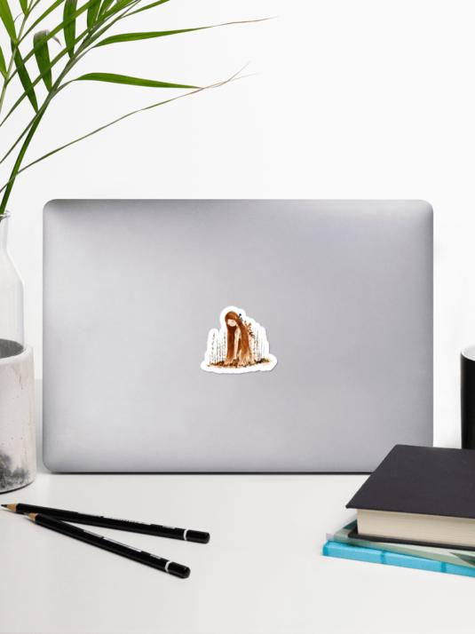 WarmSquirrel Laptop Plant Girl Sticker Set