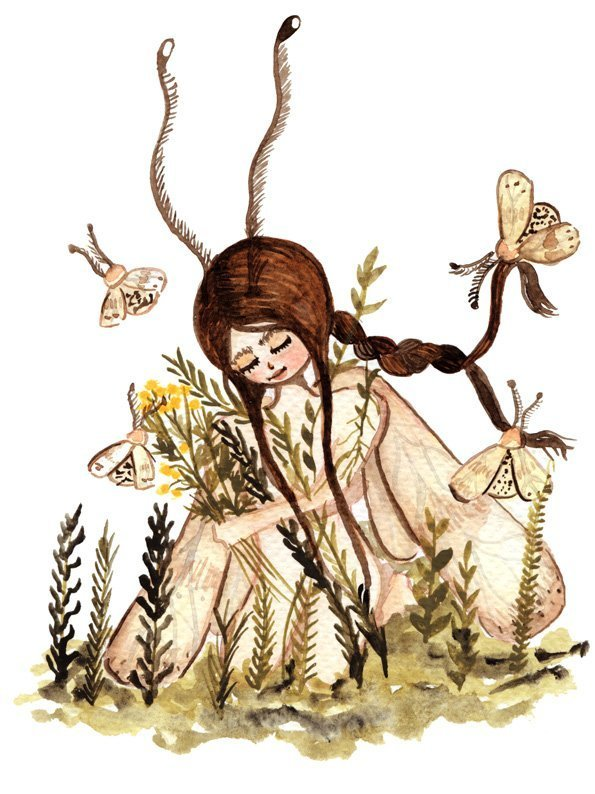 WarmSquirrel Moth Fairy Print By Warmsquirrel Jennifer Ramirez