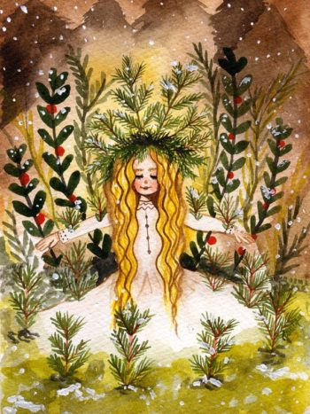 WarmSquirrel Snow Queen Watercolor Print By Jennifer Ramirez Warmsquirrel
