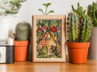 Gnome house art print