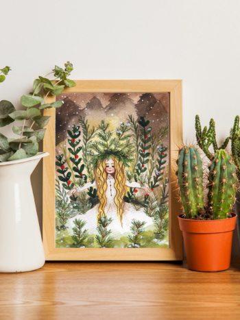 Winter Queen Art Print by Jennifer Ramirez
