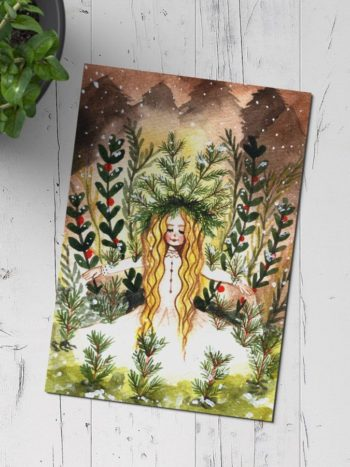 postcard of winter queen by warmsquirrel