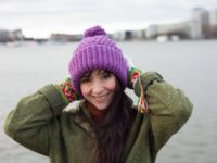 The best thing about winter is to wear a warm vegan beanie!