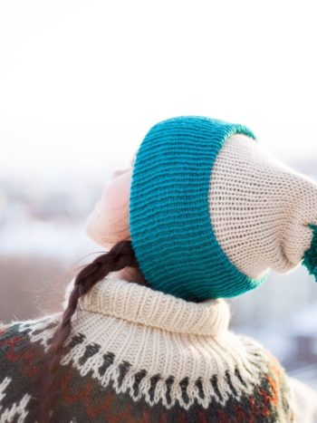 Teal-And-Beige-Vegan-Beanie-by-warmsquirrel