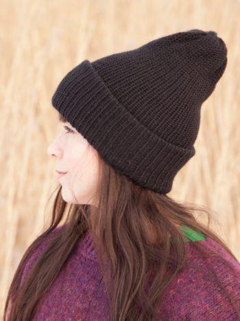 WarmSquirrel Beanie Knitted Black 1069