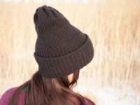 WarmSquirrel Beanie Knitted Black 1076