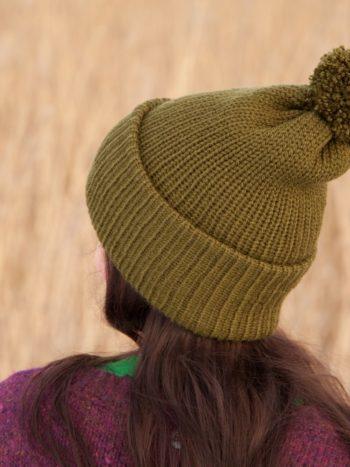 WarmSquirrel Beanie Knitted Forest Green 1012