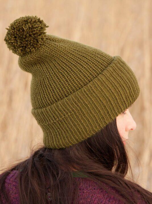 WarmSquirrel Beanie Knitted Forest Green 1013