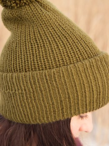 WarmSquirrel Beanie Knitted Forest Green 1015