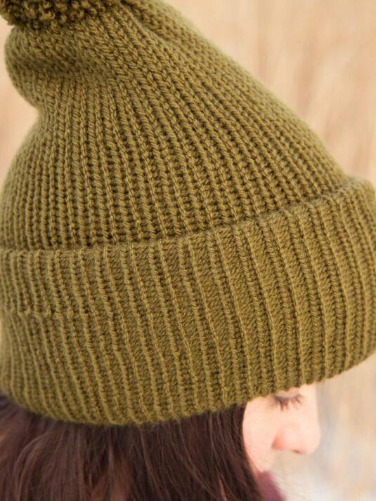 WarmSquirrel Beanie Knitted Forest Green 1015