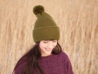 Black colored Vegan Beanie by WarmSquirrel