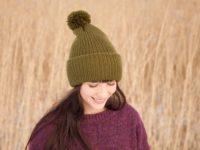 WarmSquirrel Beanie Knitted Forest Green