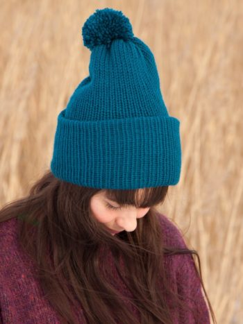 WarmSquirrel Beanie Knitted Royal Blue 0992