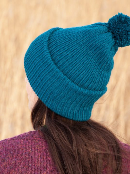 WarmSquirrel Beanie Knitted Royal Blue 0998