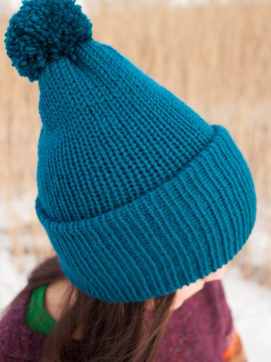 WarmSquirrel Beanie Knitted Royal Blue 1000