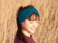 Knitted vegan ear warmer headband
