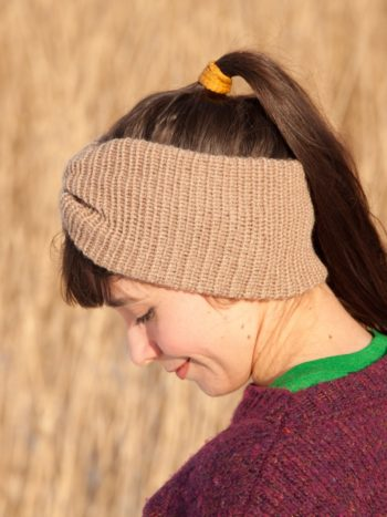 WarmSquirrel Ear Warmer Knnitted Single Colour