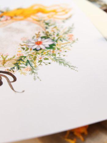 WarmSquirrel Moon Queen Print Matte Paper Closeup