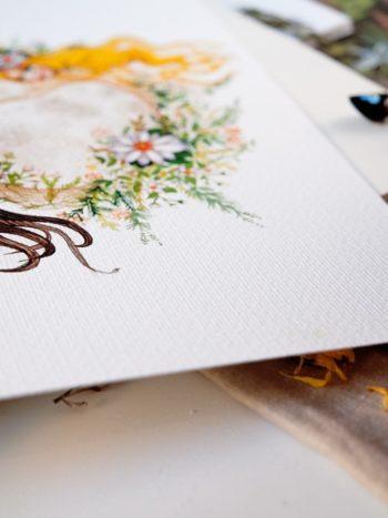 WarmSquirrel Prints watercolor texture