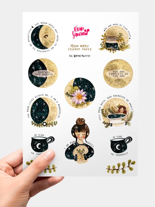 WarmSquirrel Moon Magic Sticker Pack By Warmsquirrel