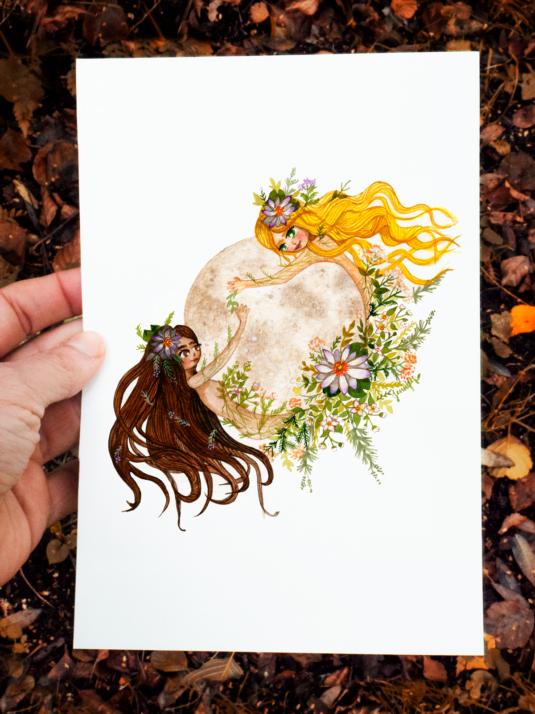 Moon Womeniluustration by Jennifer Ramirez