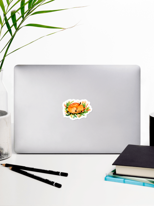 WarmSquirrel Deer Individual Sticker Mockup In Laptop