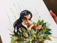 WarmSquirrel Girl Hugging Fox By Jennifer Ramirez