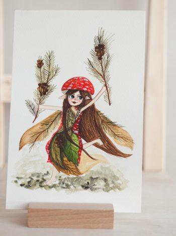 Christmas gnome print