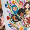 WarmSquirrel Mujeres Watercolor Painting Of Women All Races Together