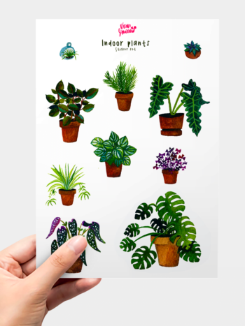 WarmSquirrel Indoor Plants Sticker Pack By Warmsquirrel