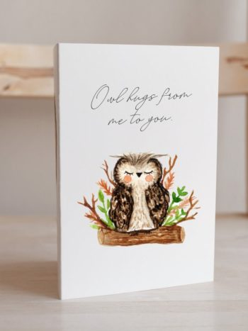 Sleeping owl card