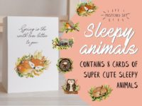 WarmSquirrel Sleepy Animal Card Bundle