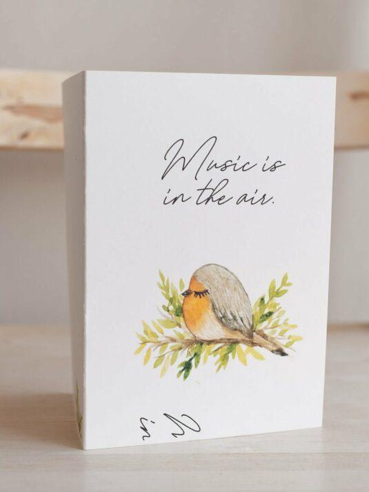 WarmSquirrel Sleepy Animals Postcards Bird
