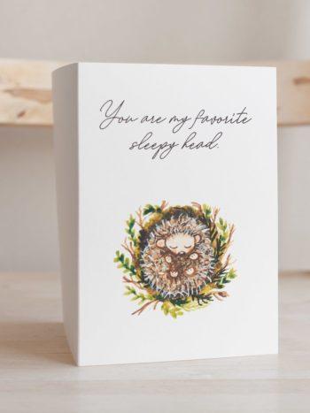 Sleeping hedgehog card