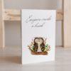 WarmSquirrel Sleepy Animals Postcards Owl