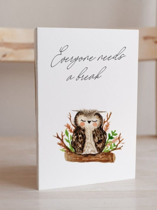 WarmSquirrel Sleepy Animals Postcards Owl
