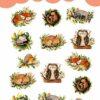 WarmSquirrel Woodland Animals Sleeping Sticker Pack By Warmsquirrel Jennifer Ramirez