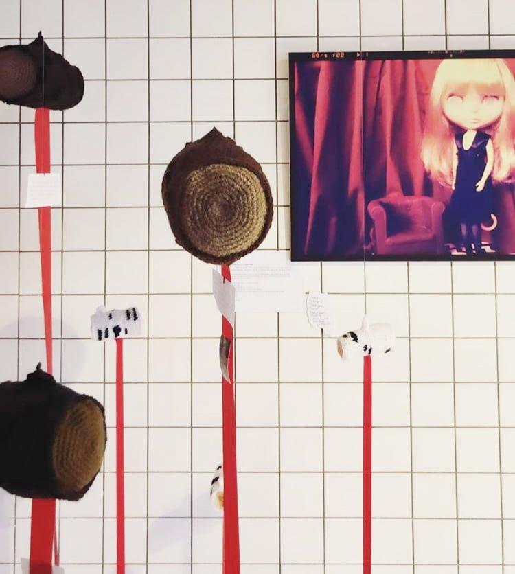 Floating logs by Jennifer Ramirez for Twin Peaks exhibition in Ivana Helsinki house.