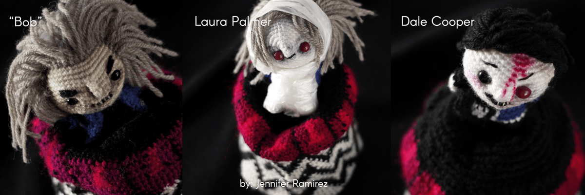 Twin peaks amigurumi by Jennifer Ramirez