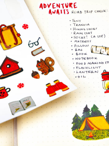 Camping sticker pack